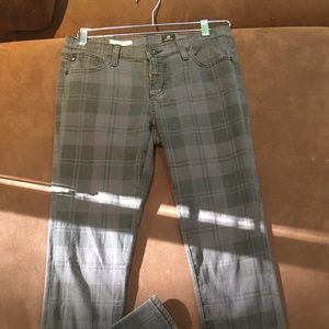 Adriano Goldshmied Grey black Plaid skinny jean 28